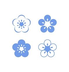 Flax flowers vector