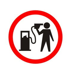 Man shouting and pointing a fuel pump vector