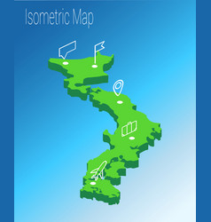 Map japan isometric concept vector