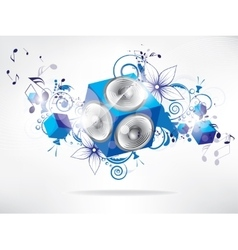 music background with floral elements and vector image