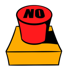 No red button icon cartoon vector