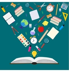 Open book subjects back to school vector