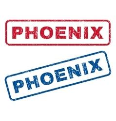 Phoenix rubber stamps vector