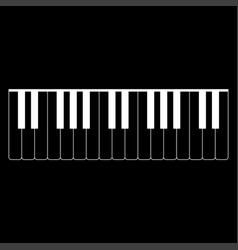 piano keys icon vector image vector image