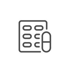 pill blister line icon vector image