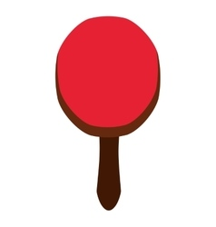 ping pong racket isolated icon design vector image