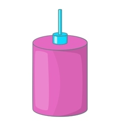 Pink hanging lamp icon cartoon style vector image
