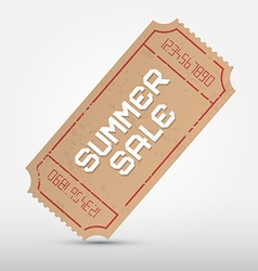 Summer Sale Ticket vector image