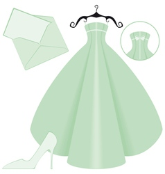 wedding in green vector image