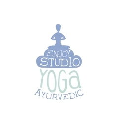 Yoga ayurvedic studio hand drawn promotion sign vector