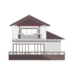 2 store building vector