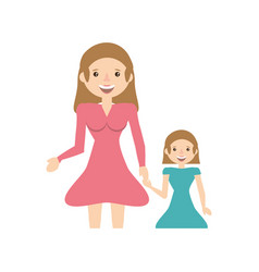 Mother and her child image vector