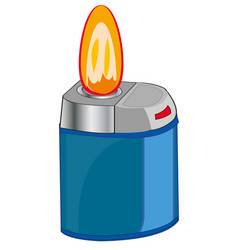 Cigarette lighter and flame vector
