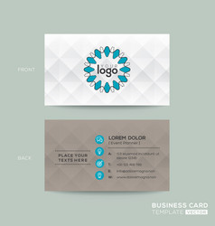 business card with grey pattern background vector image