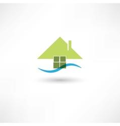 Green house symbol vector