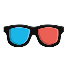 3d movie glasses icon vector