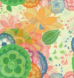 Butterflies and Garden Inspired Seamless Pattern vector image
