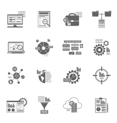 Data Analytics Icons vector image
