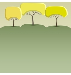 Banner with abstract trees vector