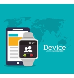 Device and icons design vector