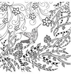 Bird coloring page vector