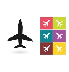 Plane icon or airplane symbol vector