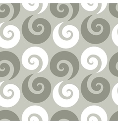 Swirl checkered seamless pattern vector image