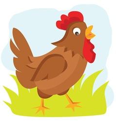 Cartoon hen vector