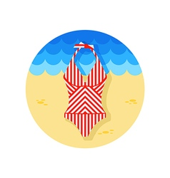 Swimsuit icon summer vacation vector