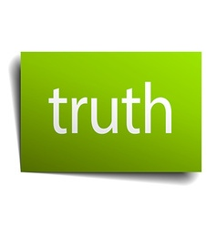 Truth square paper sign isolated on white vector