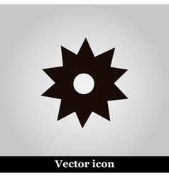 Black flower icon on grey background illus vector