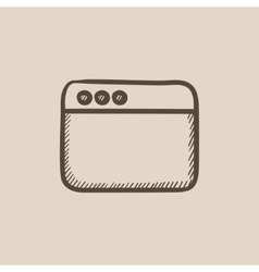 Blank window of internet browser sketch icon vector