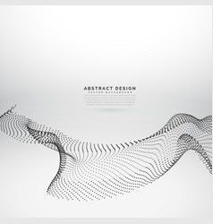 Abstract design of particles flowing in wave style vector