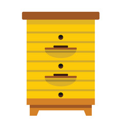 Apiary honey hive in flat style vector