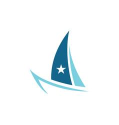 boat ocean logo vector image