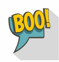 boo speech bubble icon flat style vector image