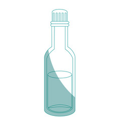 bottle with liquid vector image