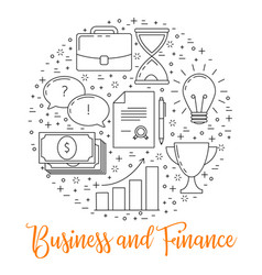 business thin line design vector image