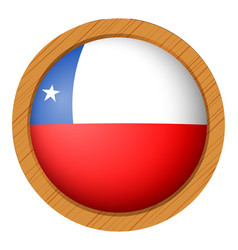 Chile flag on round button vector