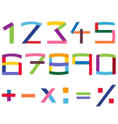 colorful number set vector image vector image