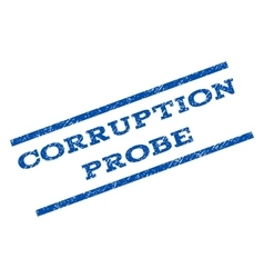 Corruption probe watermark stamp vector