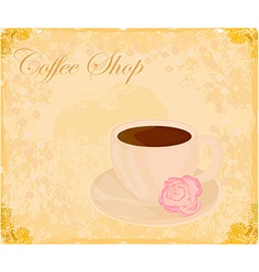 Cup of coffee with abstract design elements - vector