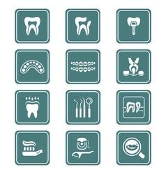 Dental icons - teal series vector