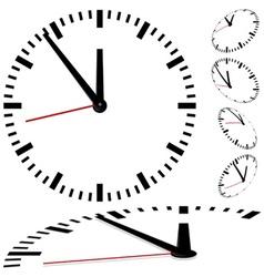 Dial clock vector