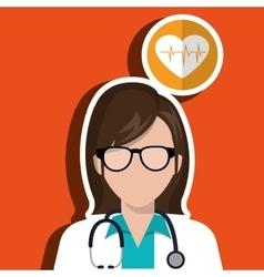 Doctor stethoscope glass medicine vector