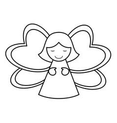 Female angel icon image vector