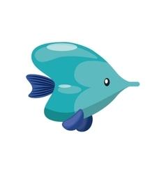 fish icon Sea life design graphic vector image