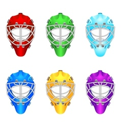 Goalie helmets vector image