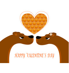 Greeting card for valentine s day vector