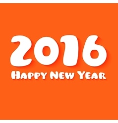 Happy New Year Paper text design on orange vector image vector image